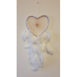 Lapač snů bílý se srdcem -...