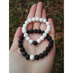 Yin-Yang náramky - bílý...