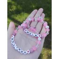 Set - růžové náramky pro...